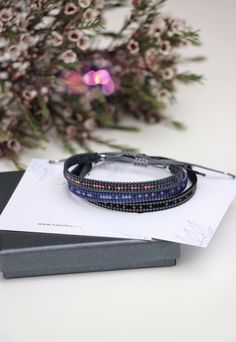 While these personalized bracelets are one size fits all, they are adjustable to fit just right. Only the highest quality beads and materials are used to provide a look and feel that is at once comfortable and exciting. And what appears to be just a design element turns out to be hidden messages in Morse code. #morsecodebracelets #morsecodejewelry #beadedbracelets Presents For Your Boyfriend, Morse Code Bracelet, Beaded Wrap Bracelets, Personalized Bracelets, Meaningful Gifts, Bracelet Making, Seed Beads, Natural Gemstones, Christmas Gifts