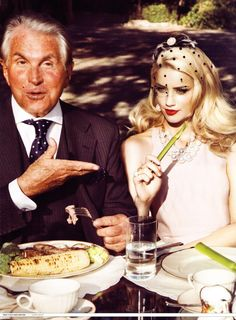 "George Hamilton and Amber Heard - ""Trophy Wife"" by Amanda De Cadenet for Harper's Bazaar, Dec. 2009"