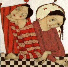 Cecile Veilhan and Her Women Figure Painting, Painting & Drawing, Art Fantaisiste, Cecile, Art Et Illustration, Arte Popular, Art Journal Inspiration, Whimsical Art, Find Art