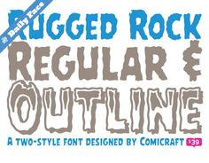 The T26 Daily Face. Rugged Rock #font reduced from $39 to $29. http://www.t26.com/fonts/6321-Rugged-Rock