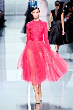 love the pink at Christian Dior Fall 2012 RTW #pfw