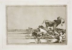Goya en El Prado: Desgracias acaecidas en el tendido de la plaza de Madrid, y muerte del alcalde de Torrejon