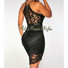 """SALE ENDS SUNDAY NIGHT Leather Lace Up Back Dress New with tags  Price is firm  V Neckline Faux leather Bralette  Faux leather lace up back Fabric 100% nylon  Length 38""""   Please use offer button I will not negotiate price thru comment box. Thanks Hot Miami Styles Dresses Midi"""