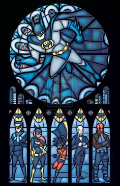 Now, this is some stained glass.  Sometimes I do feel like we need the Dark Knight roaming the nights.