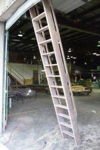 Ship's Ladder for Loft/Library/Attic - Reclaimed Oak - 10% Grey Pickled Finish on Etsy, $1,099.00