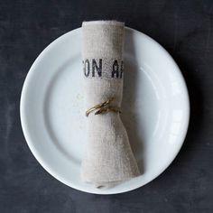 Bon Appetit Linen Napkin