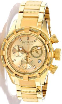#Invicta #Watch , Invicta 12461 All 18k Gold Plated Bolt Reserve Women's Watch