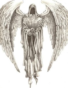 Angel drawing Dark angels and Angel on Pinterest