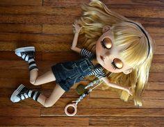 Ooak Custom Factory Blythe Doll with Big Ears by BlytheByBridie