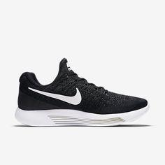 71383578a4e Nike Lunarepic Low Flyknit 2 Black White Women s Running Shoes NEW!