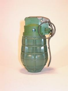 Czechoslovakian URG86 hand grenade. Weight: 430 grams, explosive charge: 42 grams. Developed in 1986, this grenade has an all plastic body