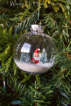 How to make an easy Santa Snow Globe Ornament