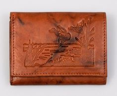 Lone Ducks Embossed All Leather Trifold Wallet Inflatable Paddle Board, Front Pocket Wallet, Tin Gifts, Cowhide Leather, Emboss, Most Beautiful, Ducks, Bags, Poster