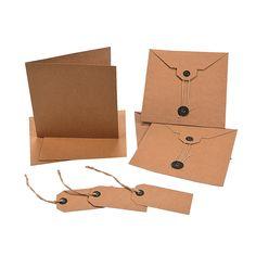 Kraft Paper Card Kits - OrientalTrading.com