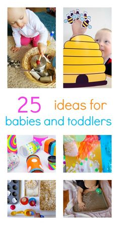 25 ideas baby play ideas and toddler activities