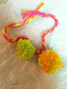 Pompon Ring and Handmade Bracelet $5.50