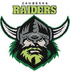 I'm selling Canberra Raiders Logo cross stitch pattern - A$3.30 #onselz