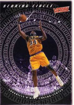 RARE 99/00 UPPER DECK VICTORY SCORING CIRCLE SHAQUILLE O'NEAL LOS ANGELES LAKER