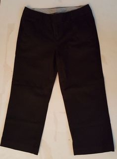 1b38923d0ca6b authentic women s Gap stretch black cropped chino pants size 6  fashion   clothing  shoes  accessories  womensclothing  pants (ebay link)