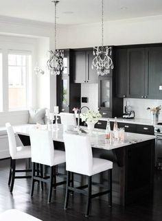 Gorgeous Kitchens with Black Appliances (Include How to Decorate Guide) --------------------------------------------------------------------- White, Gray, Oak Cabinets, Rustic, Galley, Farmhouse, Small, Dark, Grey, Blue, Country Wood, Cream, Modern, Wall Colors, Islands, Sinks, Light Fixtures, Butcher Blocks, Refrigerators, Hardware, Granite, Back Splashes, Cupboards, Hoods, Apartment Therapy, Dishwashers, Vintage Stoves, House, Big Chill, Stand Mixers, How To Paint, Cleanses, Awesome…