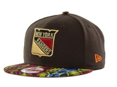 New York Rangers New Era NHL Natural Vize 9FIFTY Snapback Cap Hats