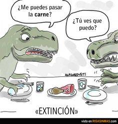 Explicación de la extinción de los dinosaurios (al menos de los Tyrannosaurus Rex).