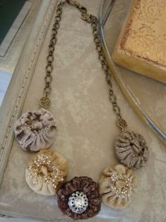 necklace ~  I've been on a yo yo kick lately so this is right up my alley!  I may try this!!
