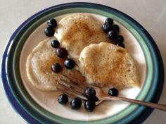 Rice Flour Pancakes ♦  1 cup rice flour;  2 tablespoons sugar;  2 teaspoons baking powder;  1/2 teaspoon salt;  1 egg, lightly beaten;  1 cup rice milk or 1 cup soymilk;  2 teaspoons oil