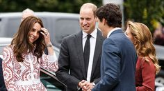 Kate Middleton, Prince William, Justin Trudeau and Sophie Grégoire Trudeau Duchess Kate, Duke And Duchess, Duchess Of Cambridge, Justin Trudeau, Kate Middleton, Trudeau Canada, Charming Man, Prince Harry And Meghan, Your Girl