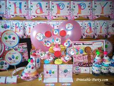 Printable Candyland Party Supplies | Candy Wonderland Themed Decorations