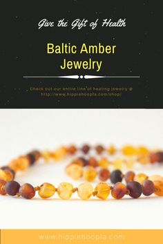 Give the Gift of Health this holiday season!  Baltic amber is a natural fossilized tree resin (like sap) which formed over 40 million years ago from the Baltic Sea region of Europe/Asia. It contains the highest quantity in nature (3-8%) of succinic acid, which produces its anti-inflammatory properties. When worn on the skin, body heat causes the amber to release an oil containing succinic acid, which, when absorbed into the skin, works like a natural ibuprofen for pain and inflammation.