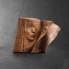 Contemporary book bronze sculpture by Paola Grizi