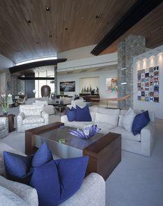 Desert Design Purple Pillows Homes Living Room Designs Rooms