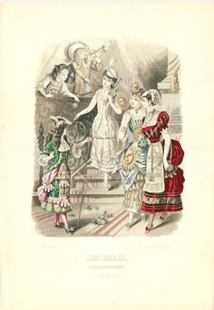 1882 vintage fashion print antique gowns 19th by annelondez1