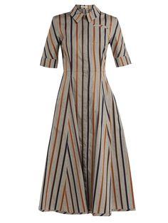 Jamil striped cotton midi dress | Emilia Wickstead | MATCHESFASHION.COM US