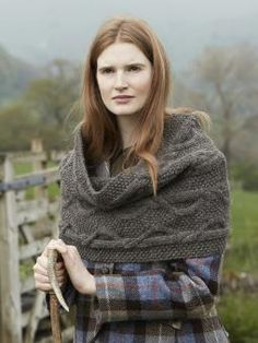 Kendal Snood - Knit this accessory snood from Lakeland. Designed by Marie Wallin using our 100% British wool, British Sheep Breeds Chunky Undyed (wool), th...