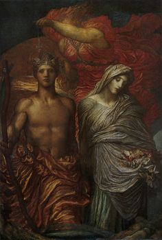 George Frederick WATTS (1817-1904) Time, Death and Judgement