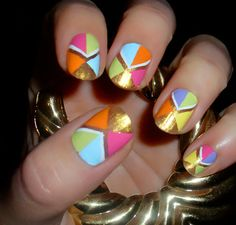 Color Blocked Nails