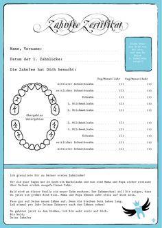 Zahnfee Zertifikat - ein Brief von der Zahnfee