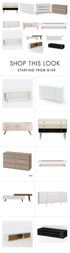 Console/drawer by ioana-buzila on Polyvore featuring interior, interiors, interior design, home, home decor, interior decorating, West Elm, Kate Spade, Kelly Hoppen and South Shore