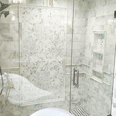 Calacatta Gold Bathroom Design 1x2 Herringbone And Basketweave On Now