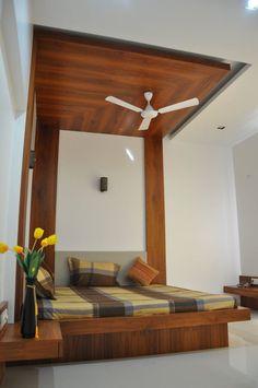 Architecture and interior design projects in India - Sheetalchhaya residence - manoj Bhandari - Bedroom False Ceiling Design, Bedroom Bed Design, Small Room Bedroom, Home Decor Bedroom, Bed Rooms, Closet Bedroom, Bedroom Designs, Bedroom Furniture, Wood Interior Design