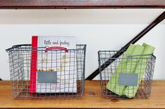 General Eclectic Home Storage wire baskets