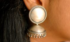 Sterling Silver Jhumka Earrings