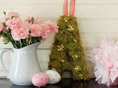 Add a personal touch to your spring decor with this easy-to-craft initial — just glue moss and artificial buds to a chipboard or wooden letter. Get crafting with our step-by-step instructions.