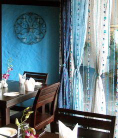 bohemian bead curtains | Just another mountain chick / blue beads curtain amazing