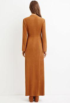 Faux Suede Maxi Dress