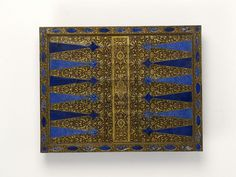 AMAZING Place of origin: Venice, Italy (made) Date: ca. (made) Artist/Maker:Unknown (production) Materials and Techniques: Veneered with tropical hardwood (probably rosewood), and lapis lazuli, with gilded decoration Medieval Games, I Love Games, Games Images, Board Games, Game Boards, Game Pieces, Victoria And Albert Museum, 16th Century, Middle Ages