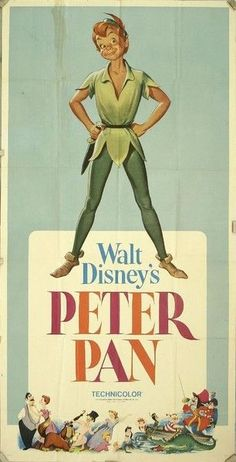 Vintage Poster of Peter Pan, 1953 - .Always gonna be my favorite. - Vintage Poster of Peter Pan, 1953 – …Always gonna be my favorite.