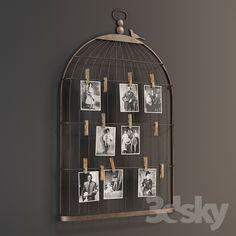 GRAMERCY HOME - METAL BIRD CAGE SHAPE CARD & PHOTO HOLDER 1/5312